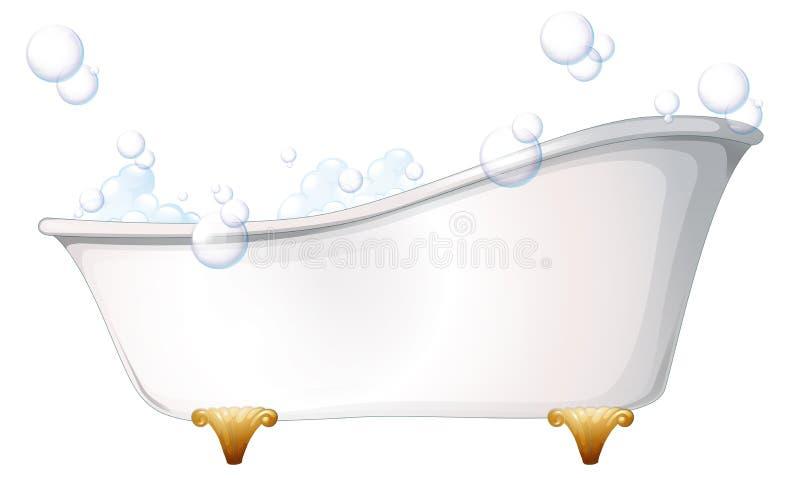 一个浴缸 库存例证