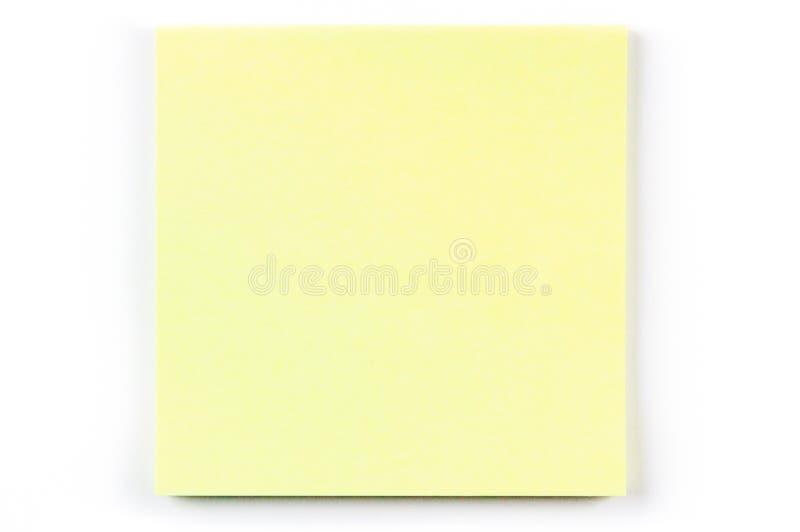 一个黄色便条纸 免版税库存照片