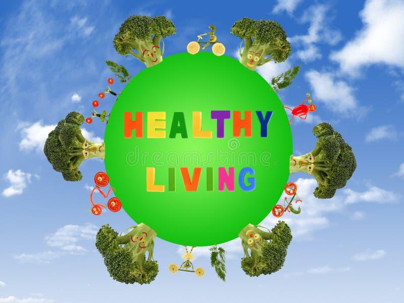 一个绿色行星的健康生活 向量例证