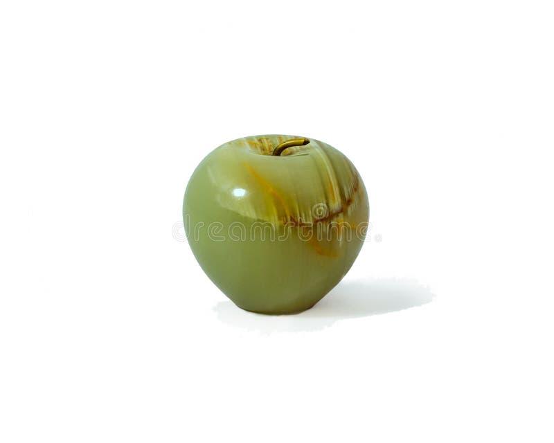 一个绿色水晶苹果 库存图片