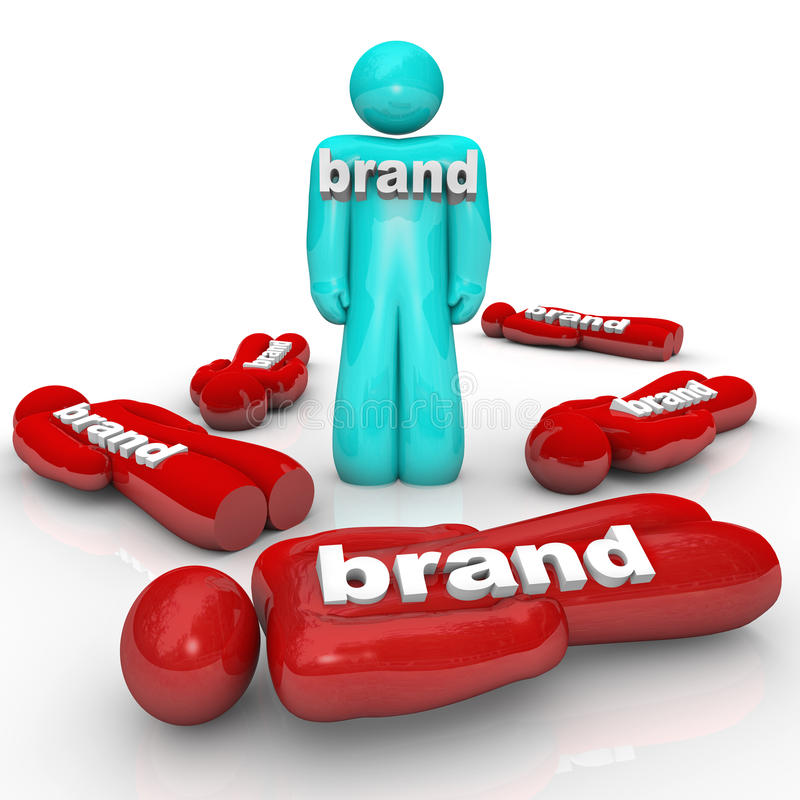 一个Brand Market Leader Top Product Company 向量例证