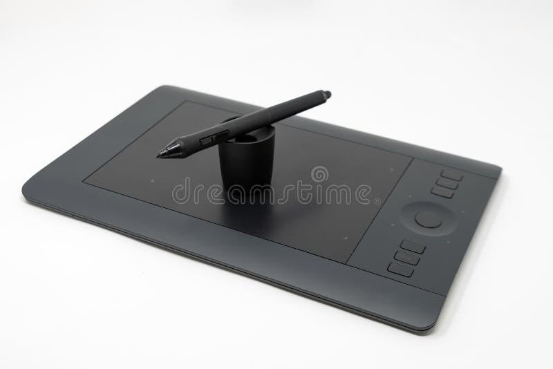 一个debadged图形输入板和数字式铁笔集合 库存图片