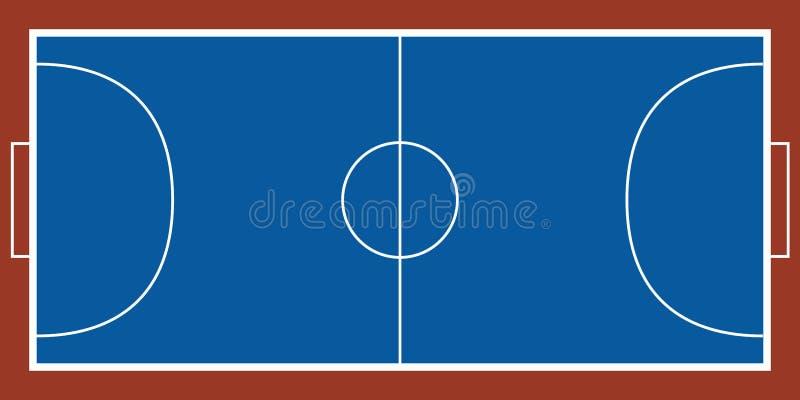 一个futsal领域的鸟瞰图 皇族释放例证