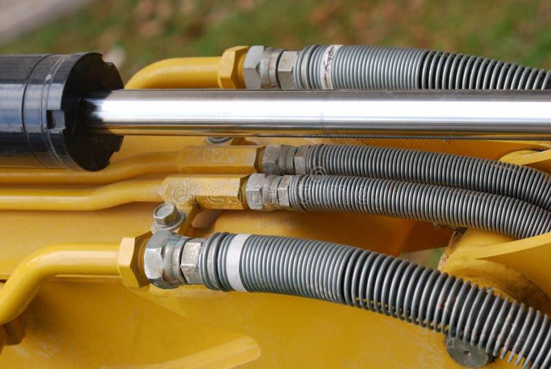 一些工业动水学轴和流动水管 库存图片