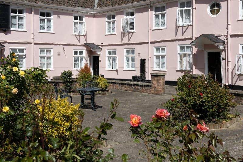一些老桃红色村庄看法在2019年5月14日布里斯托尔 免版税库存照片