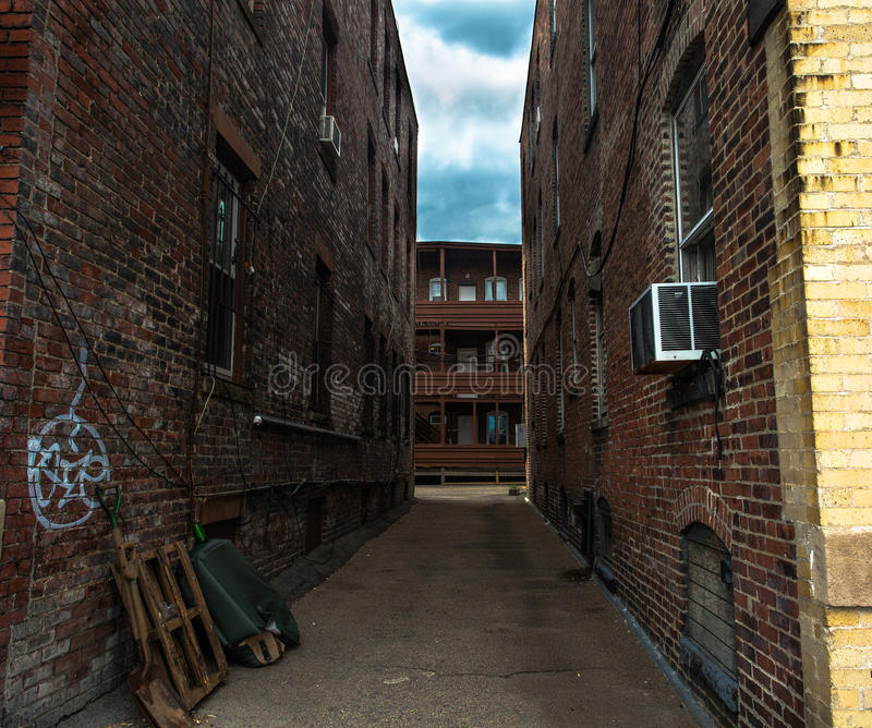一些街道在波士顿,马萨诸塞 库存照片