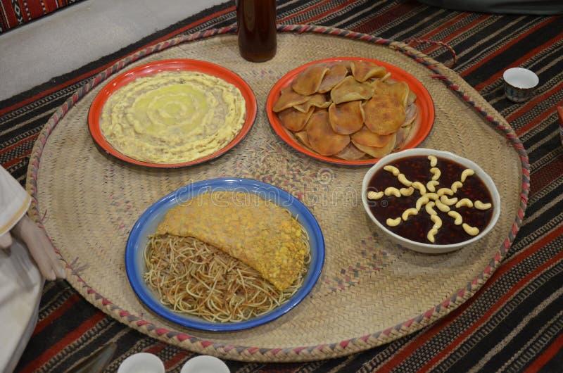 一些阿拉伯食物 库存照片