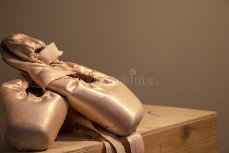 一位专业舞蹈家的鞋子 库存图片