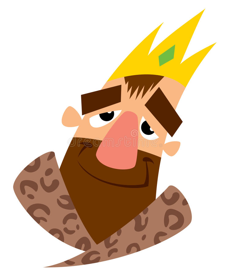 愉快的动画片国王的面孔 皇族释放例证