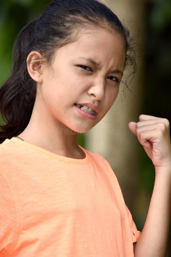 一位坚强的少年女性 免版税图库摄影