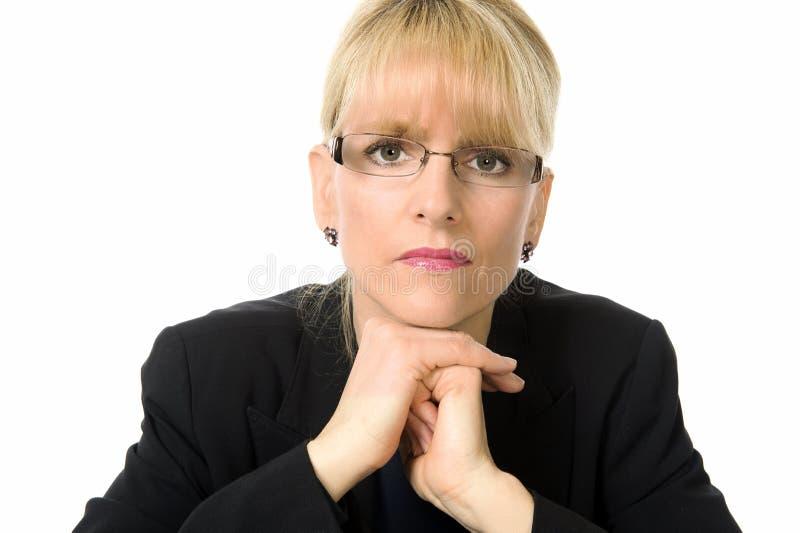 一位女性执行委员的纵向 库存图片