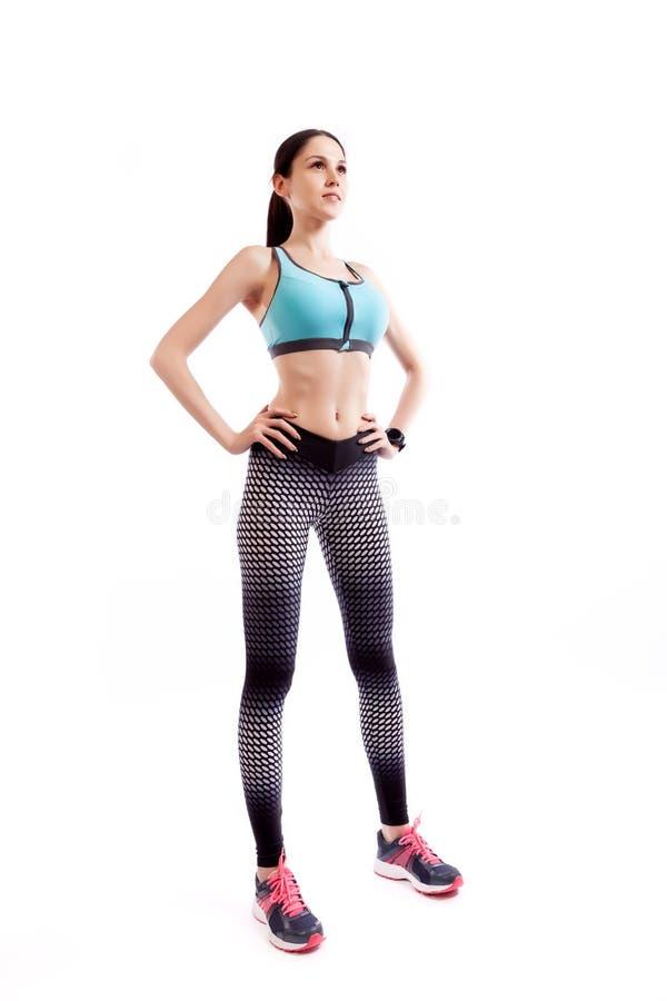 一位年轻亭亭玉立的女子运动员 免版税库存照片