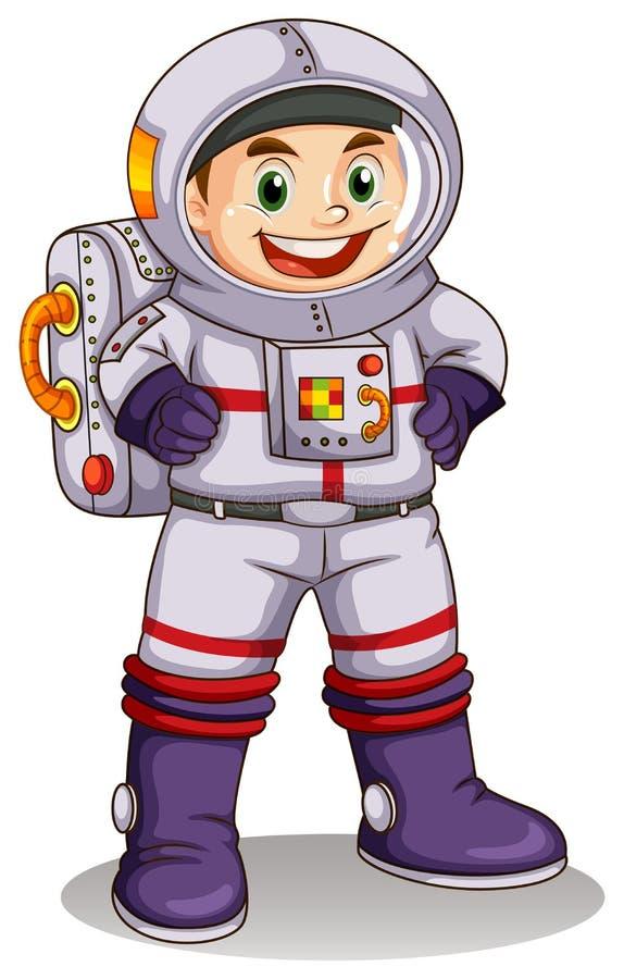 一位愉快的宇航员 库存例证