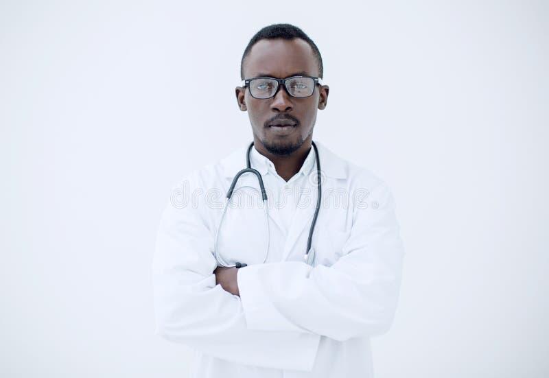 一位成功的新医生的纵向 库存照片