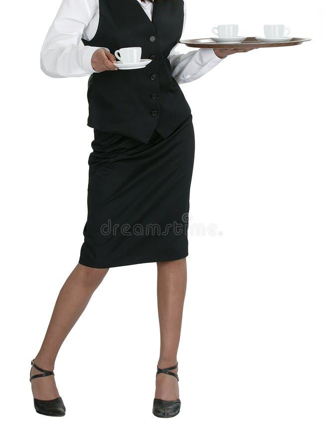 一位新可爱的女服务员 库存图片
