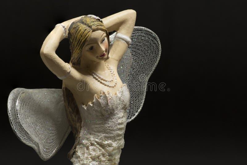 一位装饰唯一白肤金发的神仙 免版税库存图片