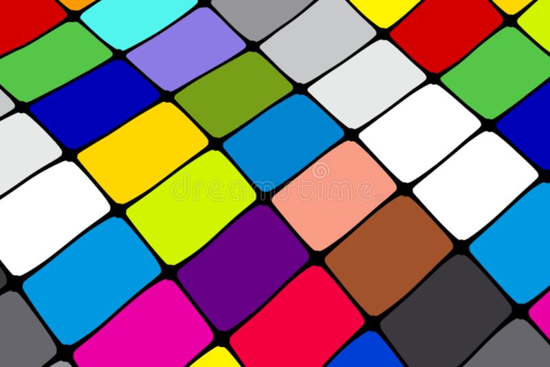 一位颜色验查员以正方形的形式 向量例证