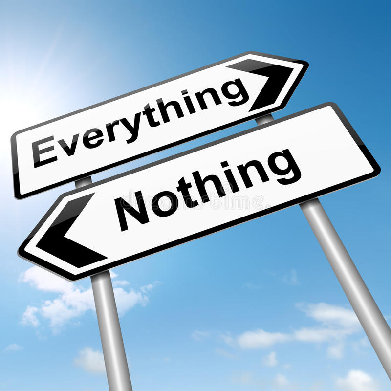 一切或没什么概念。 向量例证