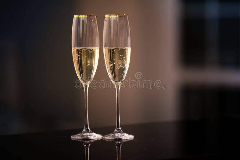一副眼镜香槟在内部的 免版税图库摄影