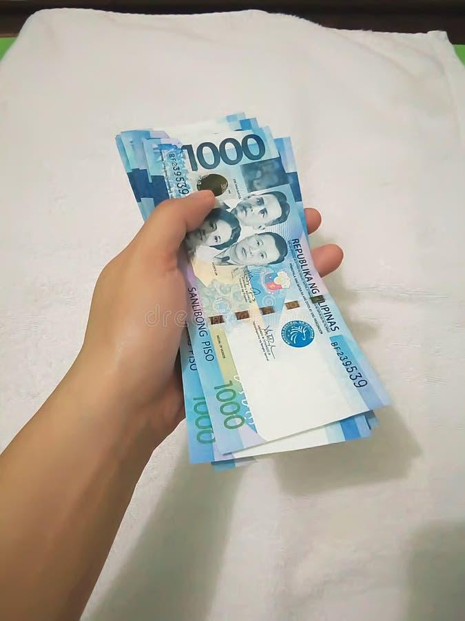 一千张菲律宾币票据 图库摄影