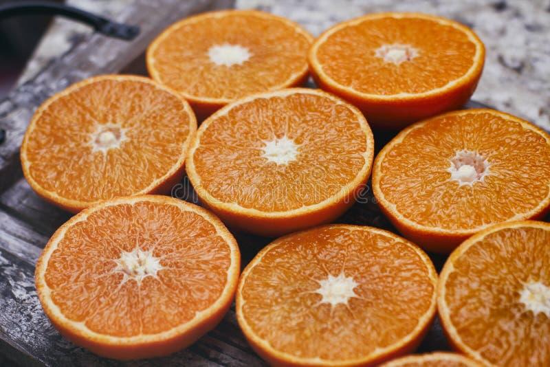 一半柑橘背景 切新鲜水果 库存图片