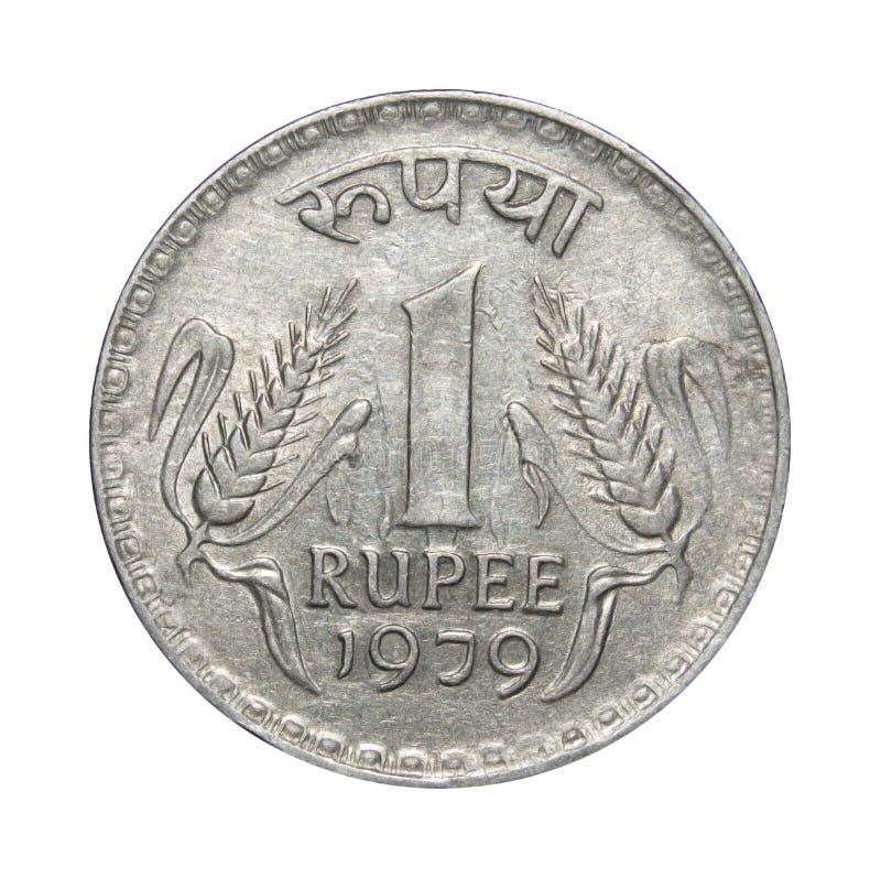 一卢比硬币印度 免版税库存照片