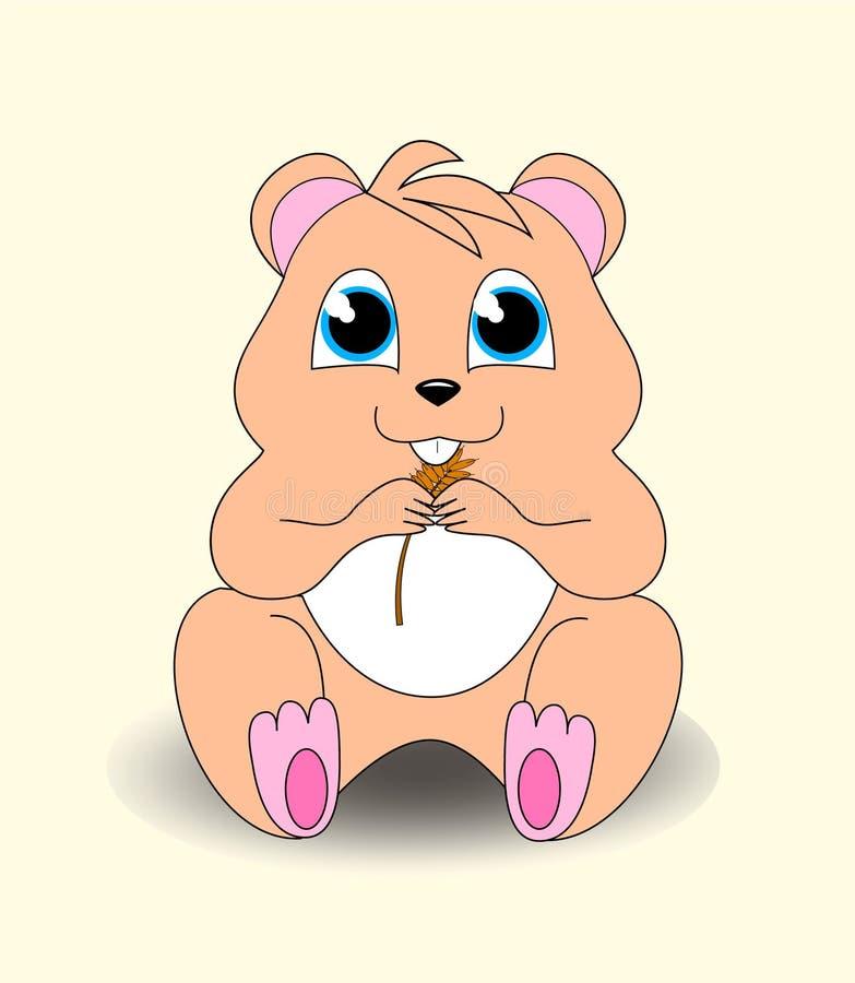一只小的逗人喜爱的仓鼠 免版税库存图片