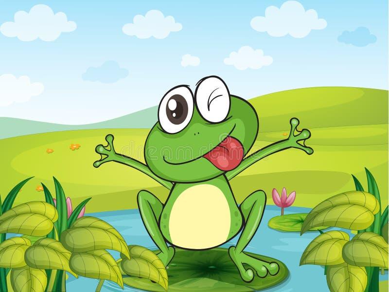 一只微笑的青蛙 皇族释放例证
