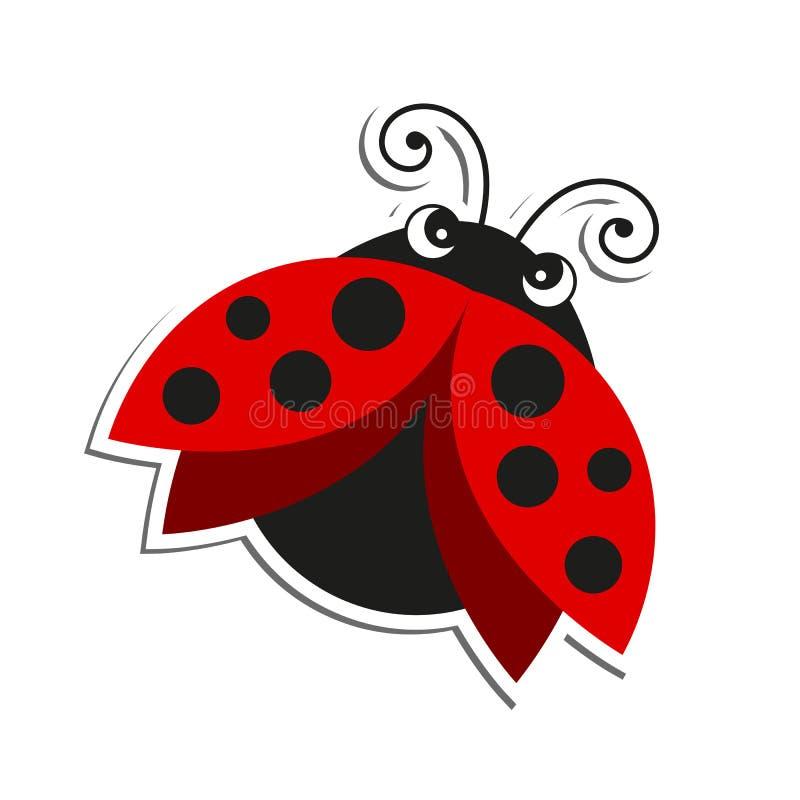 一只瓢虫 向量例证