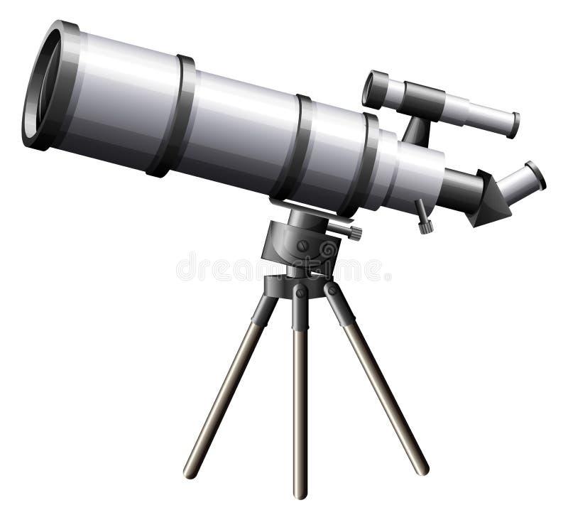 一台望远镜 库存例证