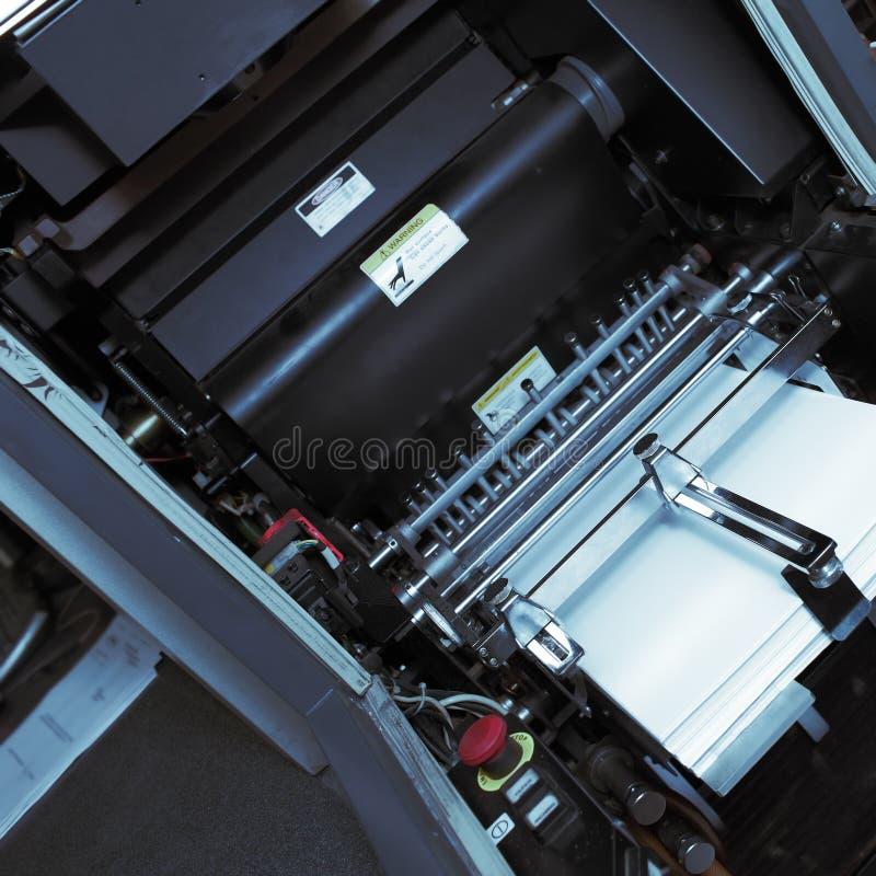 一台橡皮打印机的机制 图库摄影