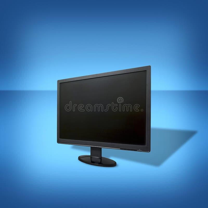 一台液晶显示(LCD)显示器的特写镜头 库存例证
