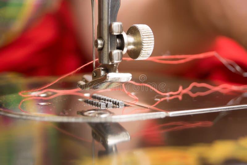 一台缝纫机的细节 免版税库存图片