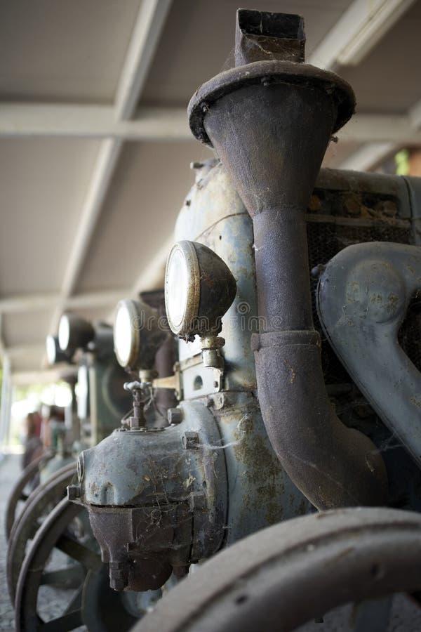 一台老拖拉机的细节 免版税库存照片