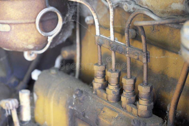 一台老拖拉机的细节 库存照片