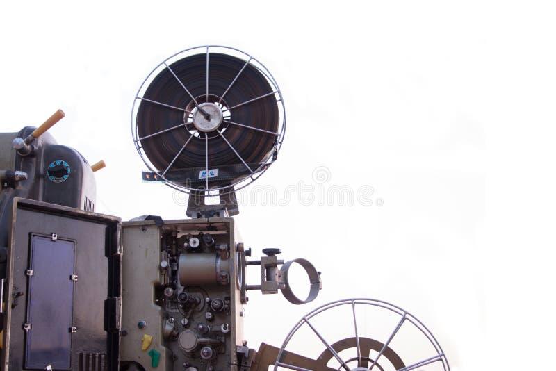 一台老放映机的照片 免版税库存照片