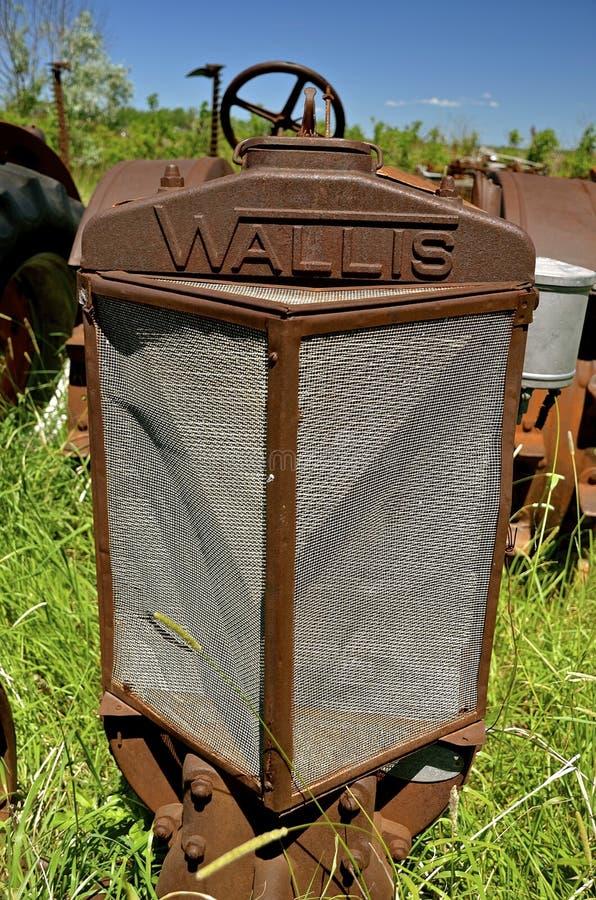 一台老沃利斯拖拉机的格栅 免版税库存照片