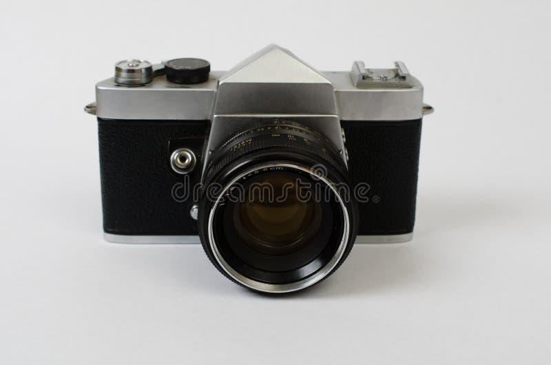 一台老照相机走下去 免版税库存图片