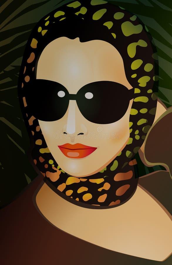 Download 一名妇女的面孔戴眼镜的 向量例证. 插画 包括有 晚上, 题头, 例证, 手帕, 表面, 嘴唇, 向量, 围巾 - 72368764