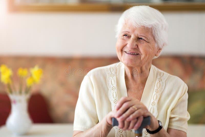 一名年长妇女的画象 库存照片