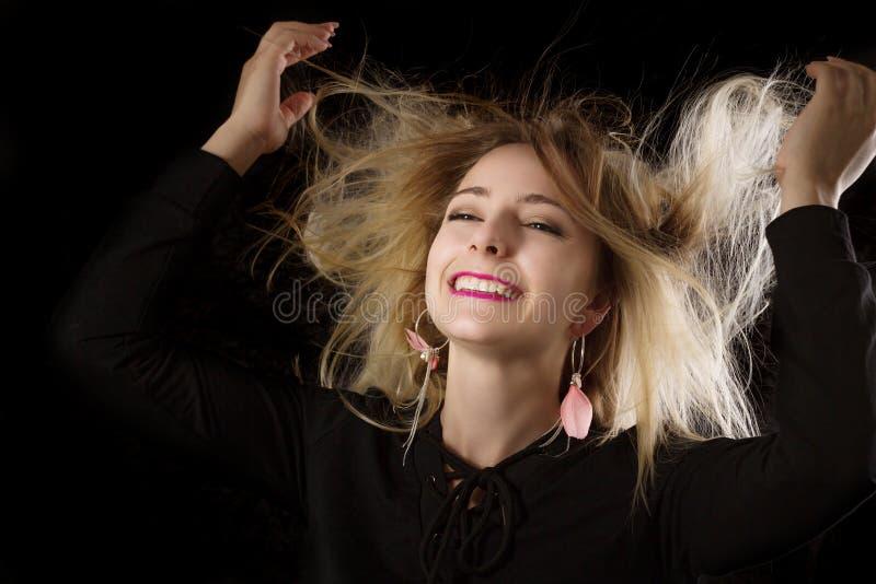 一名微笑的妇女的纵向 图库摄影