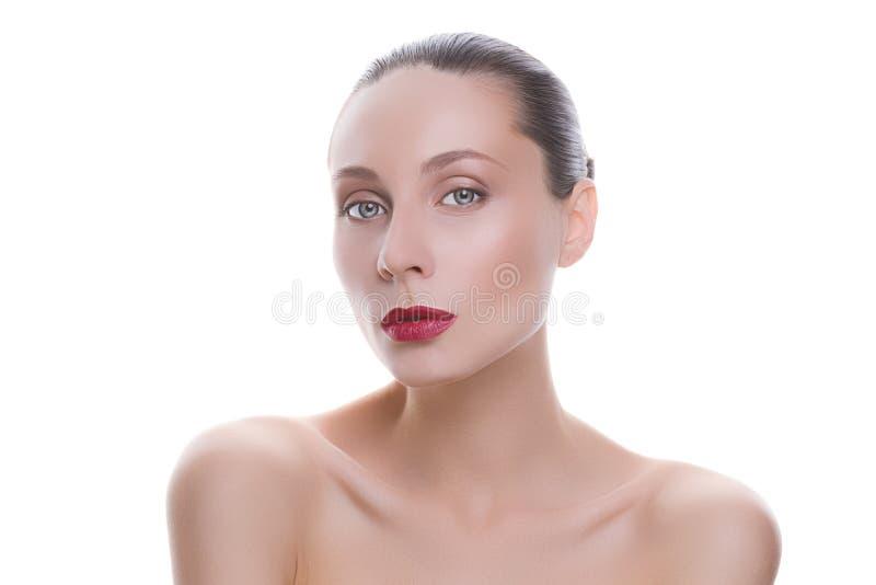 一名新美丽的妇女的纵向 免版税库存照片