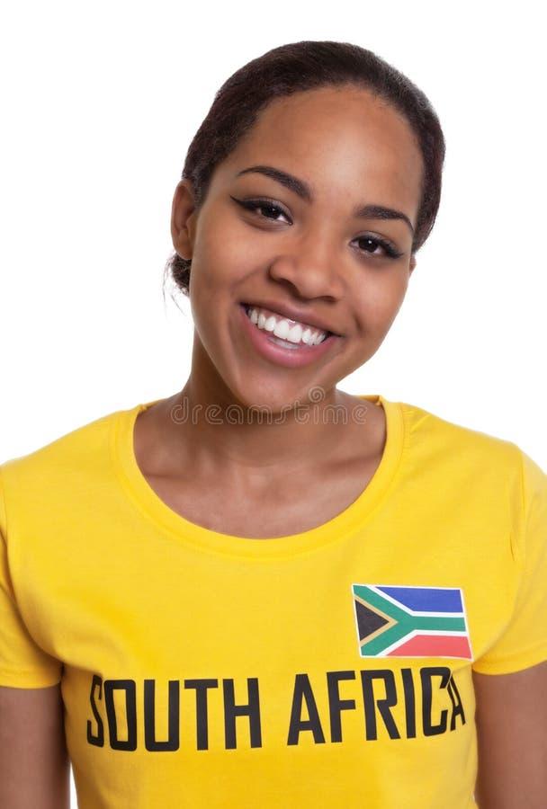 一名笑的妇女的画象从南非的 库存照片