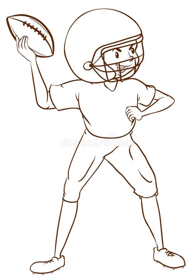 一名美国橄榄球运动员的一个简单的剪影.魔漫画下载笛图片