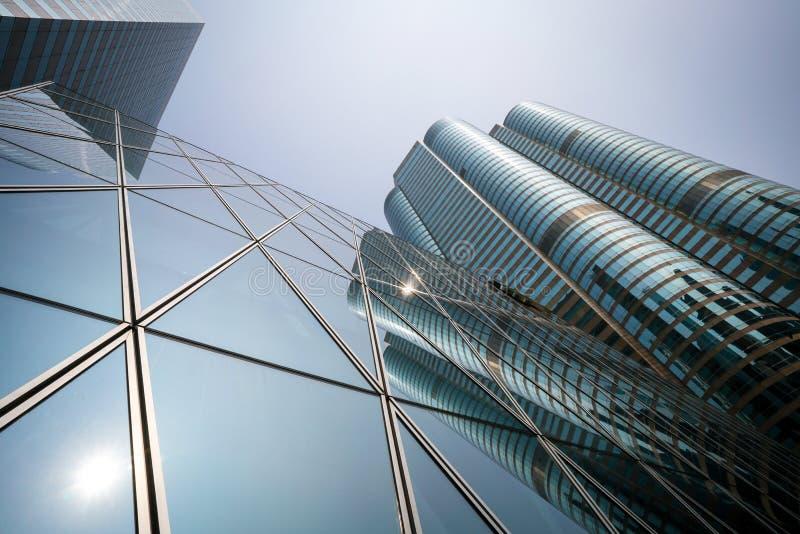 一和两交易广场在香港中区  免版税库存图片