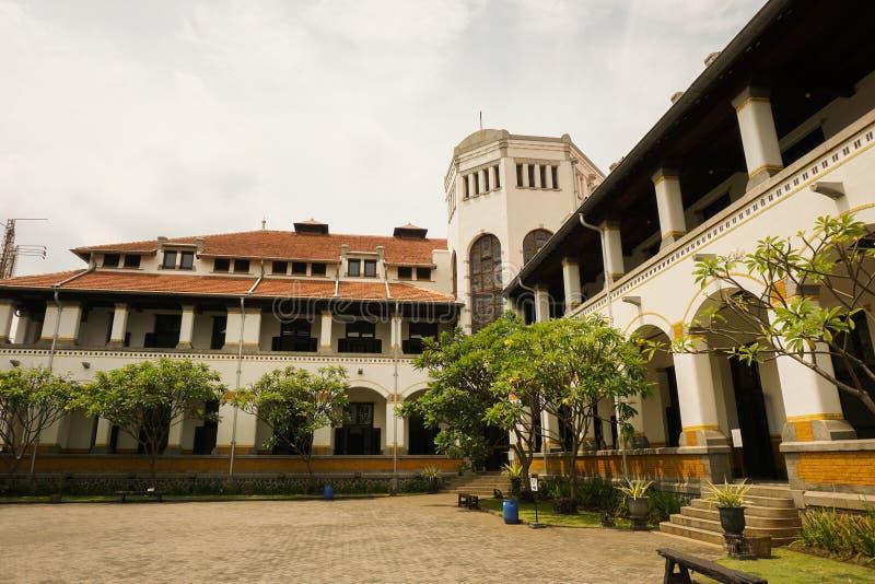 一在三宝垄拍的Lawang Sewu照片的角落印度尼西亚 库存照片