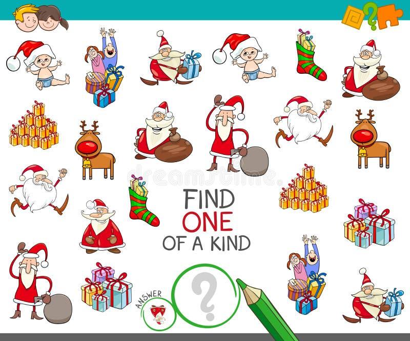 一场亲切的动画片比赛的圣诞节一 库存例证