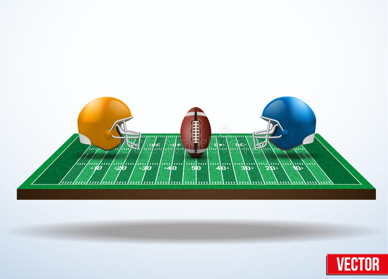 一场橄榄球比赛的标志在领域的 库存例证