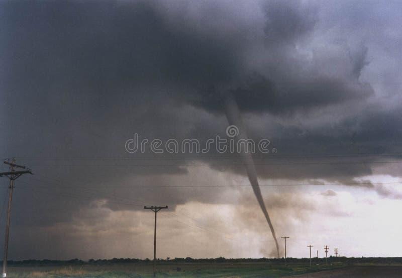 一场猛烈龙卷风移动在科罗拉多东南部高平原  免版税库存图片