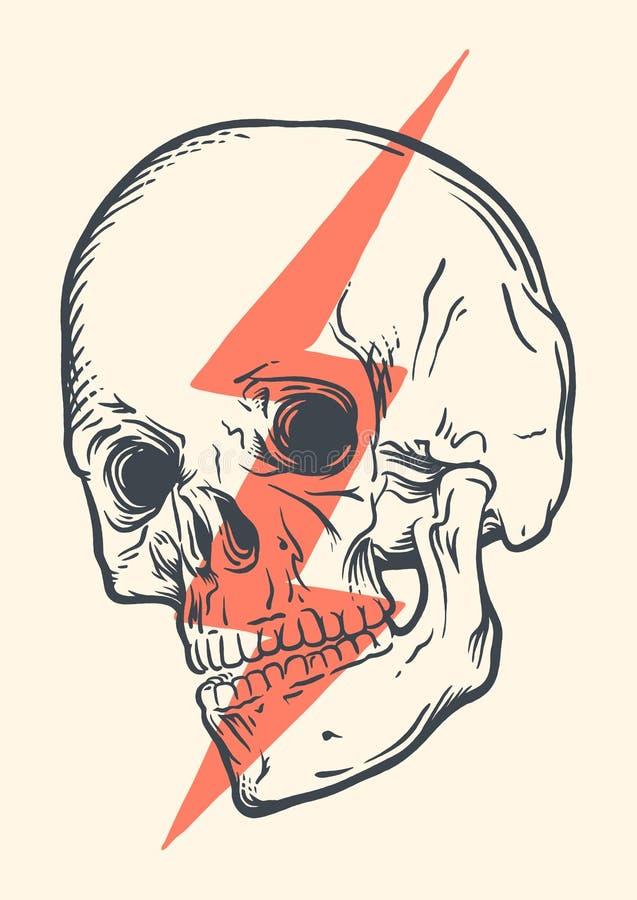 概念性头骨 向量例证